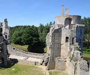 Vue de l'intérieur des fortifications