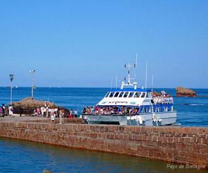 Arrivée en bateau sur l'île de Bréhat