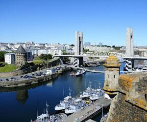 Vue sur la ville de Brest