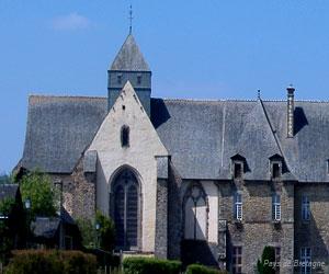 Détail de l'abbaye de Paimpont