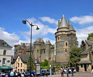 Vue du château de Vitré